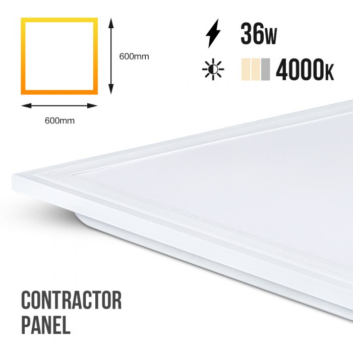 600x600 Contractor LED Panel Lamp 4000k